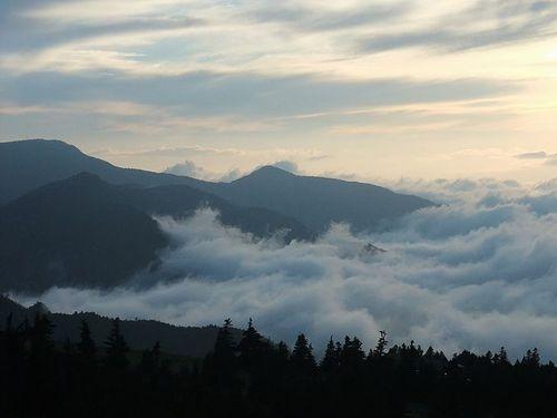 横手山ドライブインの雲海5