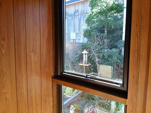 20171107草津温泉民泊花栞(はなしおり)庭の鳥の餌箱取替6