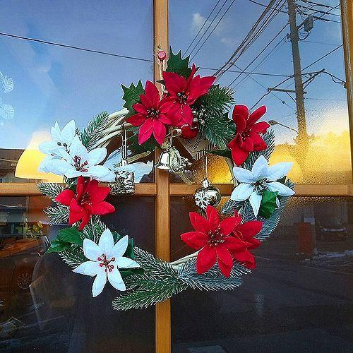 20171123草津温泉カフェ花栞(はなしおり)クリスマスリース作成1