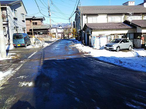 20171220草津温泉カフェ花栞(はなしおり)道路工事終了1