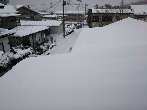 20180124草津温泉カフェ花栞(はなしおり)雪景色
