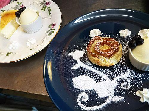 20180206草津温泉カフェ花栞(はなしおり)スイーツメニューアップルパイ、チーズケーキ