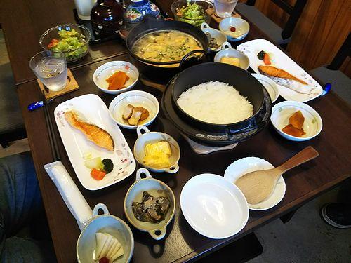 20180211草津温泉民泊花栞(はなしおり)宿泊のお客様の朝食