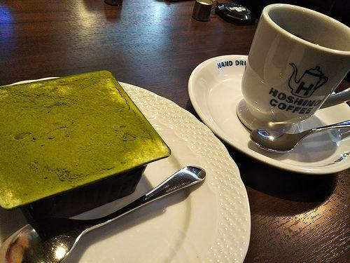 20180214星乃珈琲店抹茶のティラミスとアメリカンコーヒー