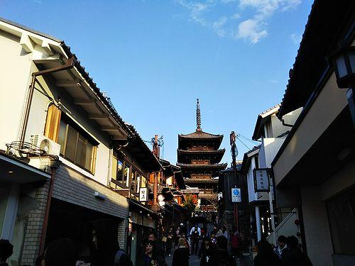 20180220京都夢見坂から見える八坂の塔