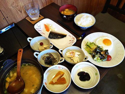 20180303草津温泉民泊花栞(はなしおり)宿泊のお客様の朝食