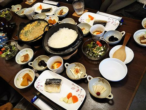 20180308草津温泉民泊花栞(はなしおり)宿泊のお客様の朝食