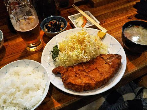 20180323草津温泉とんかつ屋さん、とん香のロースカツ定食3