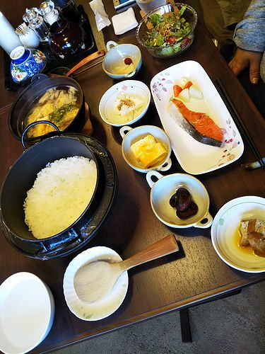 20180326草津温泉民泊花栞(はなしおり)宿泊のお客様の朝食