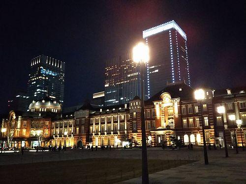 20180218夜の東京駅1