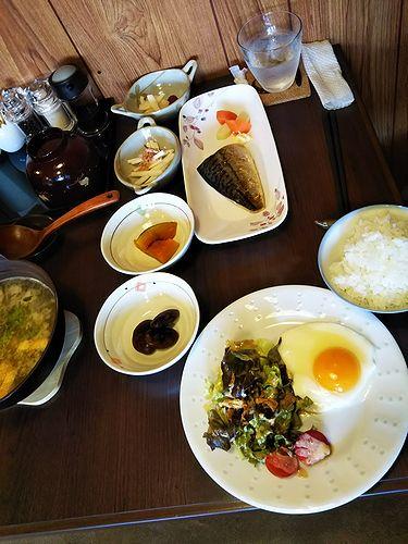 20180409草津温泉民泊花栞(はなしおり)宿泊のお客様の朝食