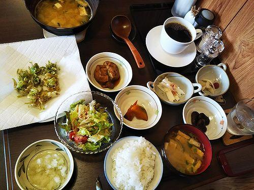 20180414草津温泉民泊花栞(はなしおり)宿泊のお客様の朝食