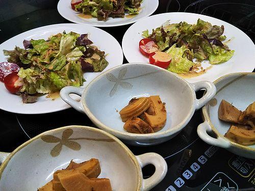 20180418草津温泉カフェ花栞(はなしおり)サラダと小鉢