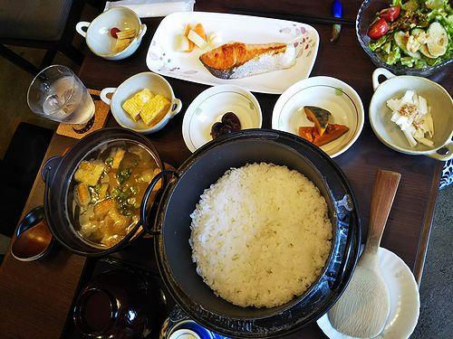 20180501草津温泉民泊花栞(はなしおり)今朝の宿泊のお客様の朝食