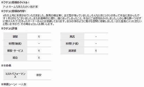 20180517草津温泉花栞(はなしおり)じゃらんnetクチコミ