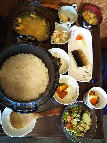 20180523草津温泉民泊花栞(はなしおり)今朝の宿泊のお客様の朝食