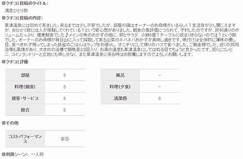 20180528草津温泉民泊花栞(はなしおり)じゃらんnetクチコミ