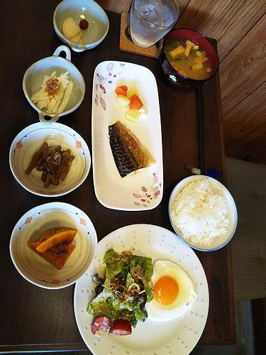 20180604草津温泉民泊花栞(はなしおり)今朝の宿泊のお客様の朝食