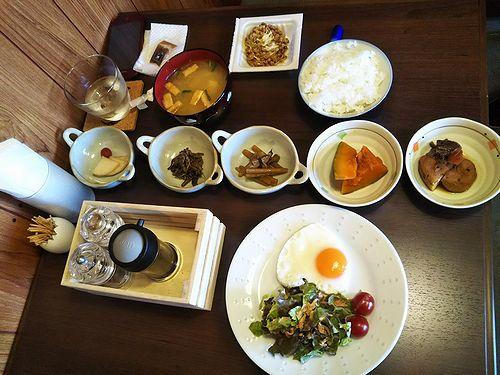 20180607草津温泉民泊花栞(はなしおり)今朝の宿泊のお客様の朝食