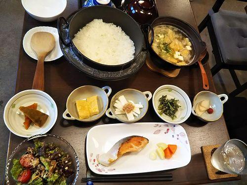 20180620草津温泉民泊花栞(はなしおり)今朝の宿泊のお客様の朝食