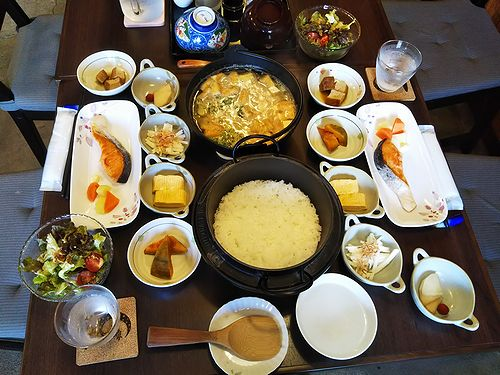 20180629草津温泉民泊花栞(はなしおり)今朝の宿泊のお客様の朝食 (1)