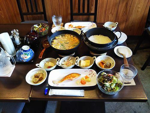 20180629草津温泉民泊花栞(はなしおり)今朝の宿泊のお客様の朝食 (2)