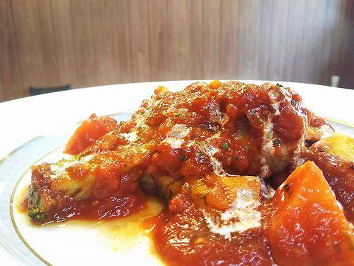 20180701草津温泉カフェ花栞(はなしおり)トマトソース煮込みハンバーグ (1)