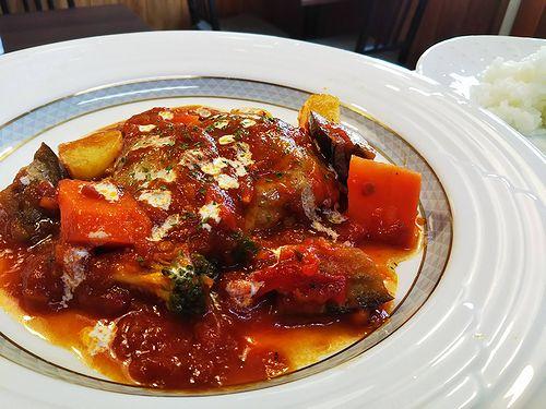 20180721草津温泉カフェ花栞(はなしおり)トマトソース煮込みハンバーグ