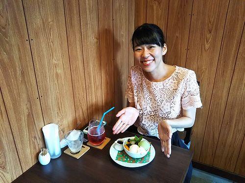 20180810草津温泉カフェ花栞(はなしおり)白玉クリームあんみつとSET(スーパーエキセントリックシアターすずきかぐや