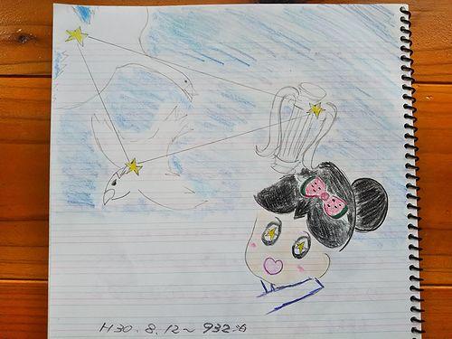 20180815草津温泉民泊花栞(はなしおり)お客様の描いたゆもみちゃんの絵