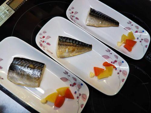 20180818草津温泉民泊花栞(はなしおり)宿泊のお客様の朝食のサバ (1)
