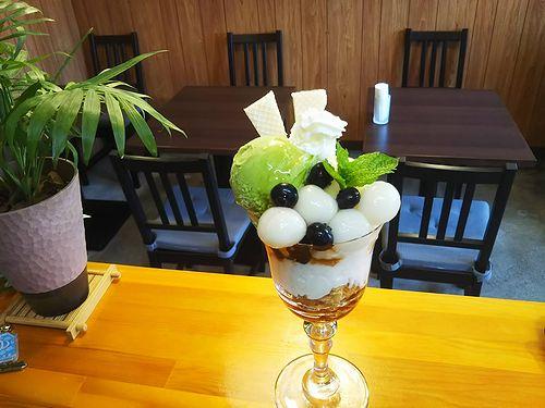 20180820草津温泉カフェ花栞(はなしおり)白玉クリームあんみつと白玉抹茶パフェ (3)