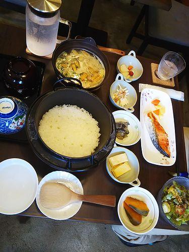 20180822草津温泉民泊花栞(はなしおり)今朝の宿泊のお客様の朝食