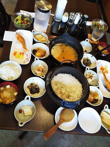 20180830草津温泉民泊花栞(はなしおり)今朝の宿泊のお客様の朝食