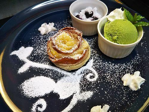 20180831草津温泉カフェ花栞(はなしおり)アップルパイ (1)