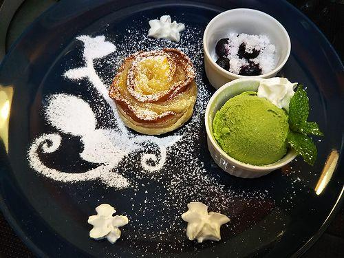 20180831草津温泉カフェ花栞(はなしおり)アップルパイ (2)
