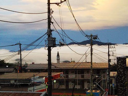 20180831草津温泉カフェ花栞(はなしおり)から見える雲海 (2)