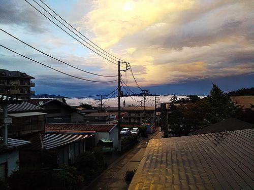 20180831草津温泉カフェ花栞(はなしおり)から見える雲海 (1)