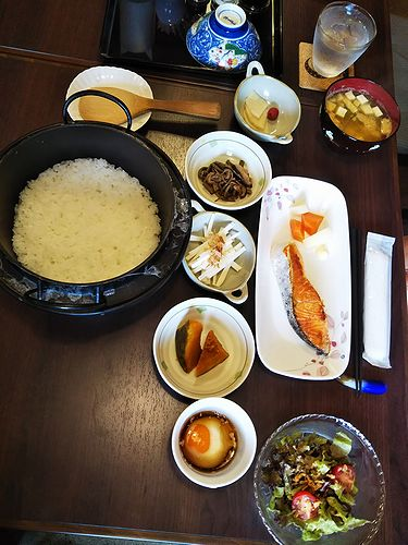 20180908草津温泉民泊花栞(はなしおり)宿泊のお客様の朝食