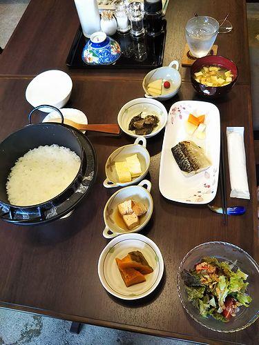 20180914草津温泉民泊花栞(はなしおり)今朝の宿泊のお客様の朝食
