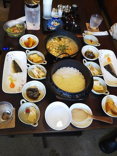 20180917草津温泉カフェ花栞(はなしおり)今朝の宿泊のお客様の朝食