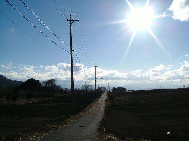 2006.3.長野県御代田町、雲と太陽