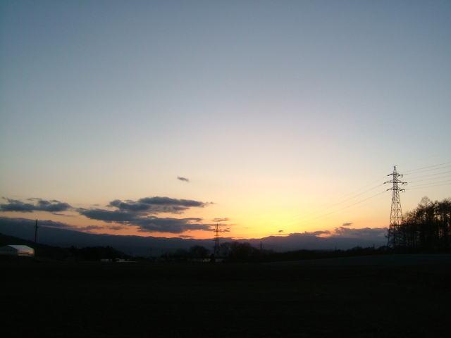 2009.2.長野県小諸市、夕焼け空
