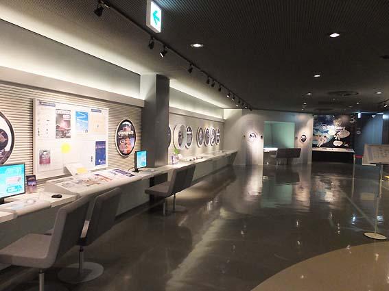 富山市科学博物館「宇宙へのたび」コーナー