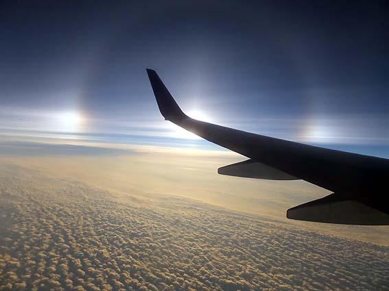 飛行機から見た幻日