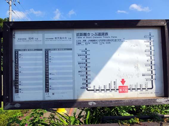 西大山駅時刻表