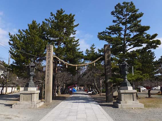 道明寺天満宮の注連柱