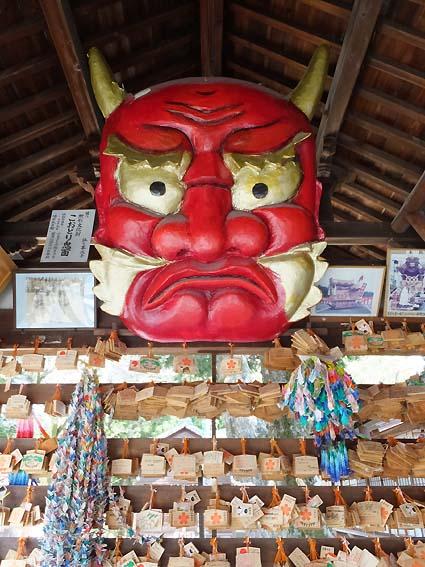 櫻井神社櫻井神社絵馬殿のこおどり鬼面