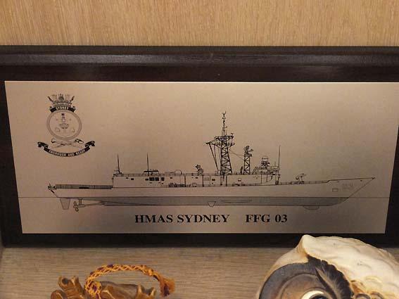 オーストラリア海軍《シドニー》のプレート