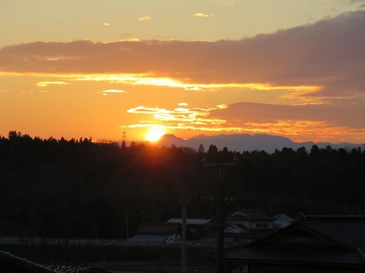 冬至の日没